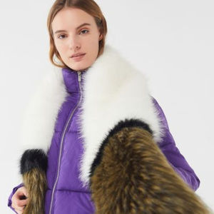 Urban Outfitters UO Faux Fur Long Scarf